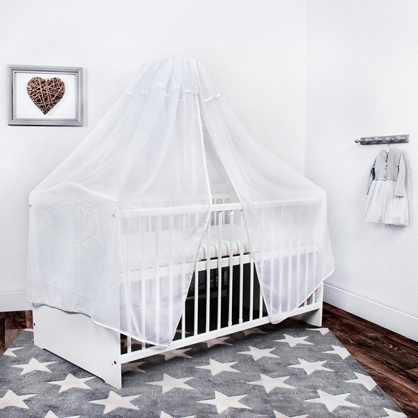 lulando baby betthimmel moskitonetz baldachin mit. Black Bedroom Furniture Sets. Home Design Ideas